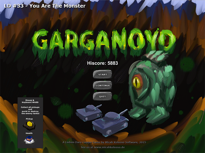 Garganoyd - LD33 - Screenshot #1 Title